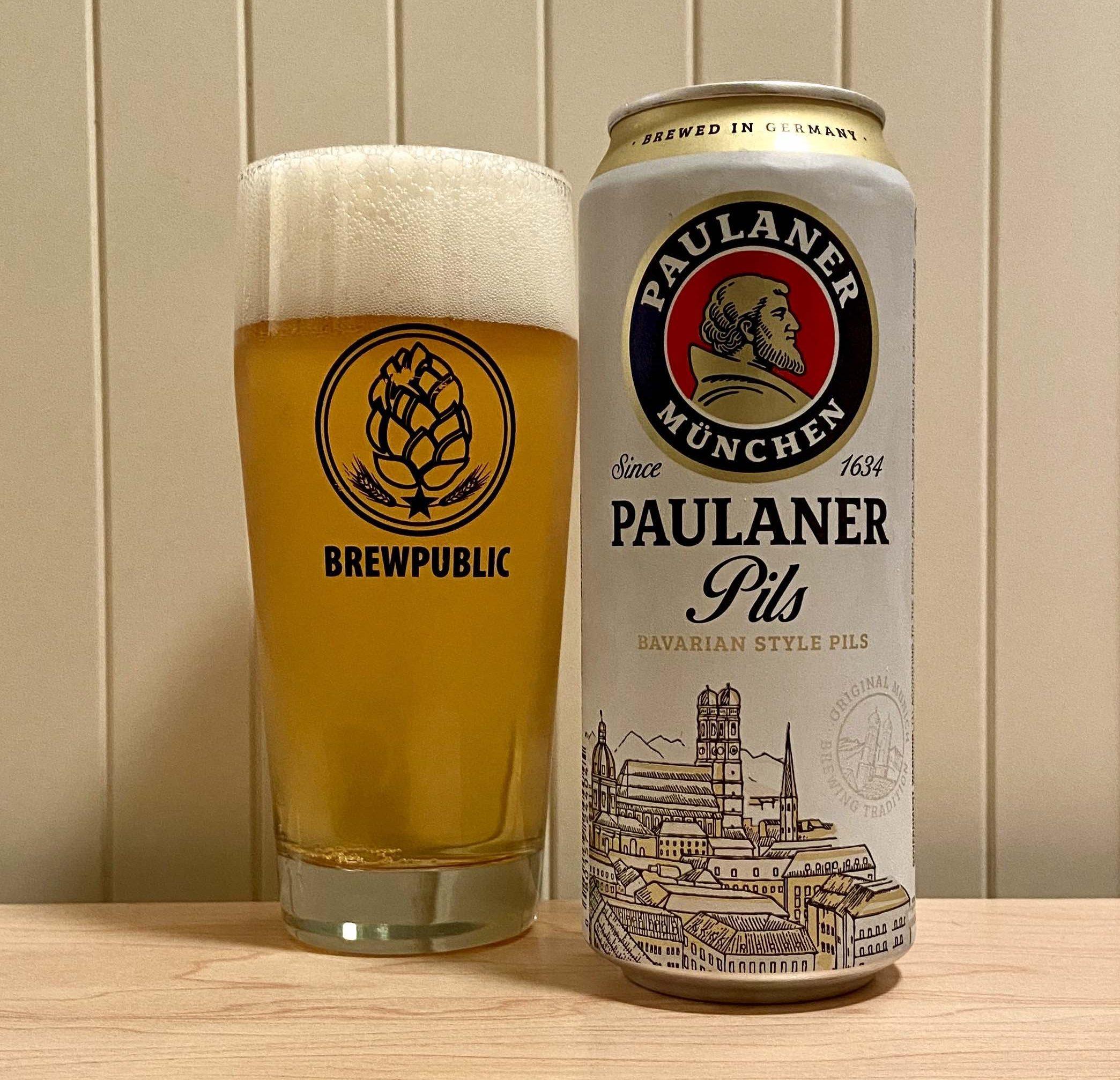 The resurected Paulaner Pils served in a BREWPUBLIC Willi Becher beer glass.