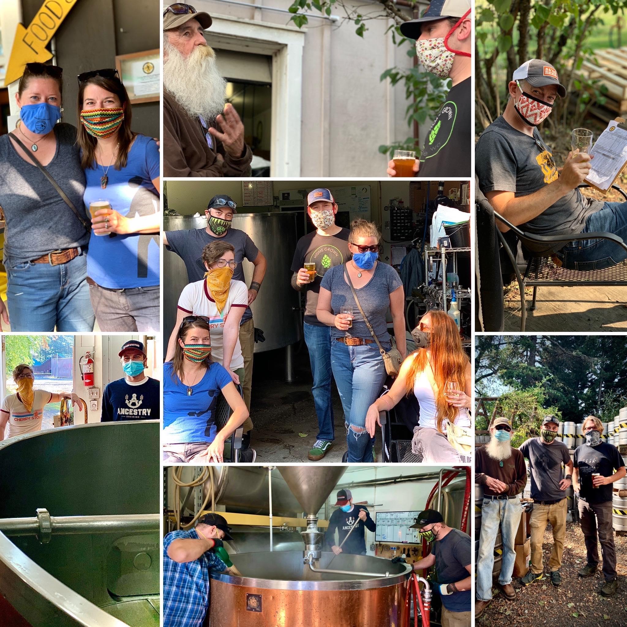 Walking Man Brewing Anniversary collaboration collage. (image courtesy of Walking Man Brewing)