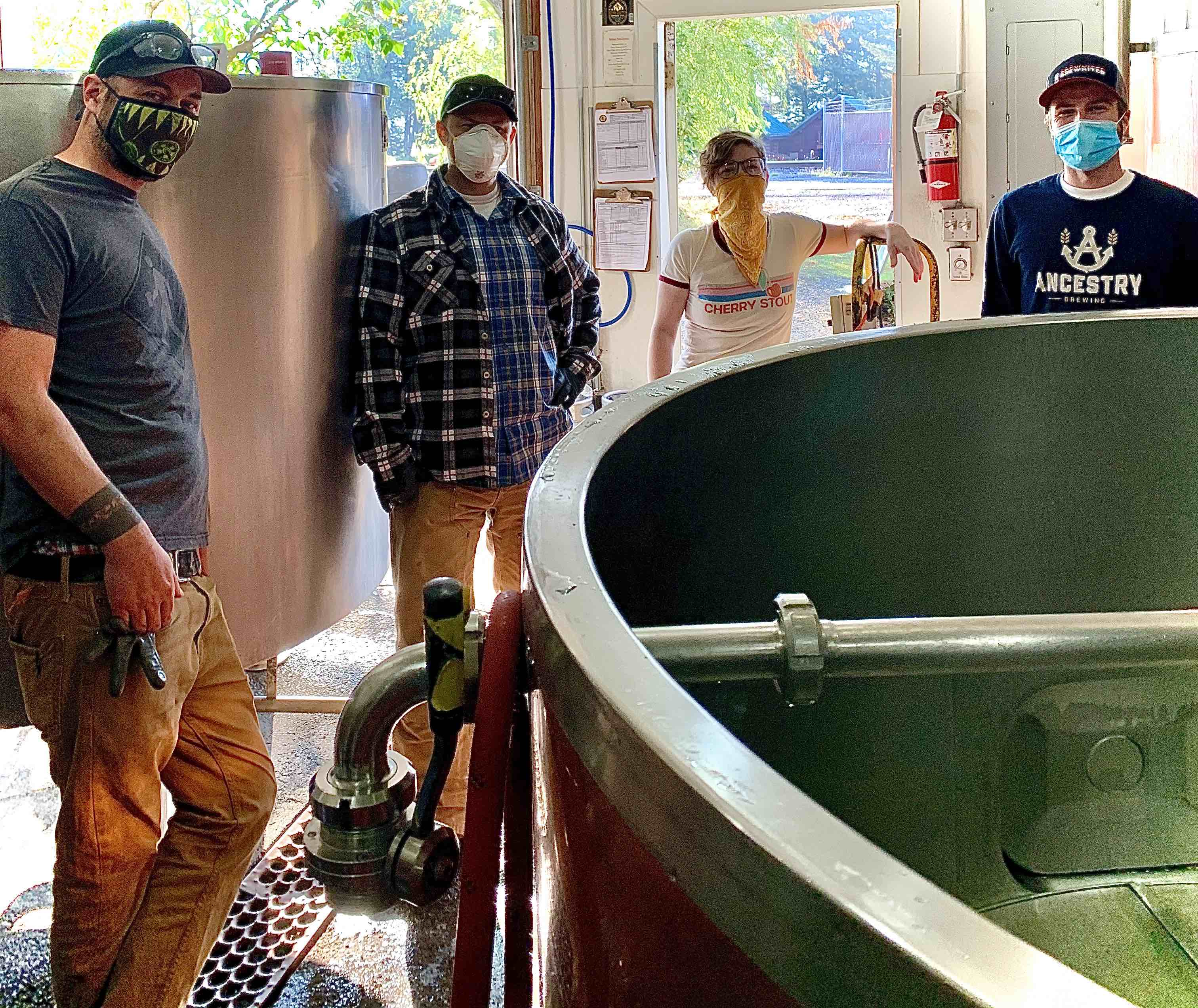 Walking Man Brewing's 20th Anniversary Collaboration brew team. (image courtesy of Walking Man Brewing)