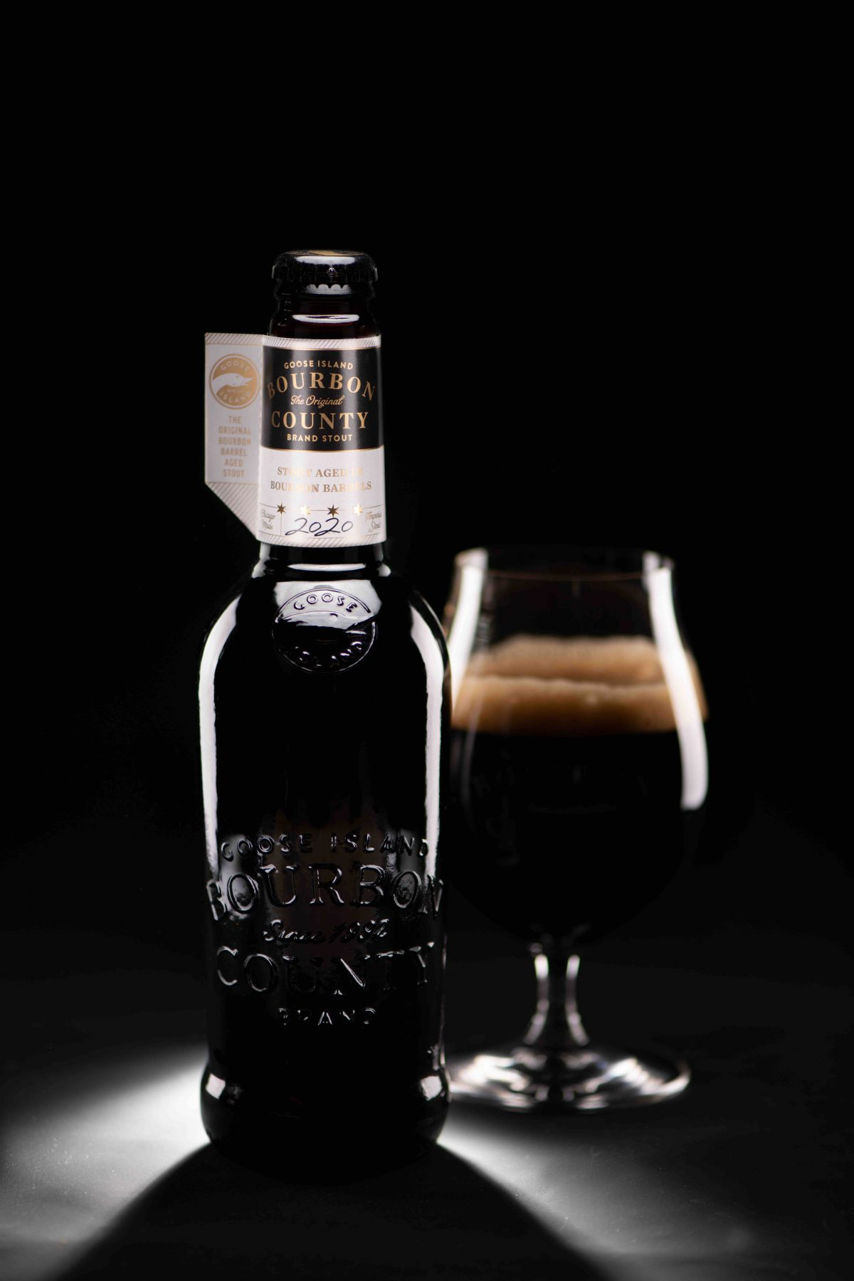 image of 2020 Bourbon County Stout courtesy of Goose Island Beer Co.
