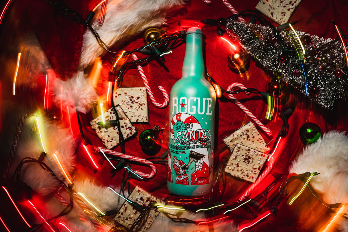 image of 2020 Santa's Private Reserve - Peppermint Bark Milk Stout courtesy of Rogue Ales & Spirits
