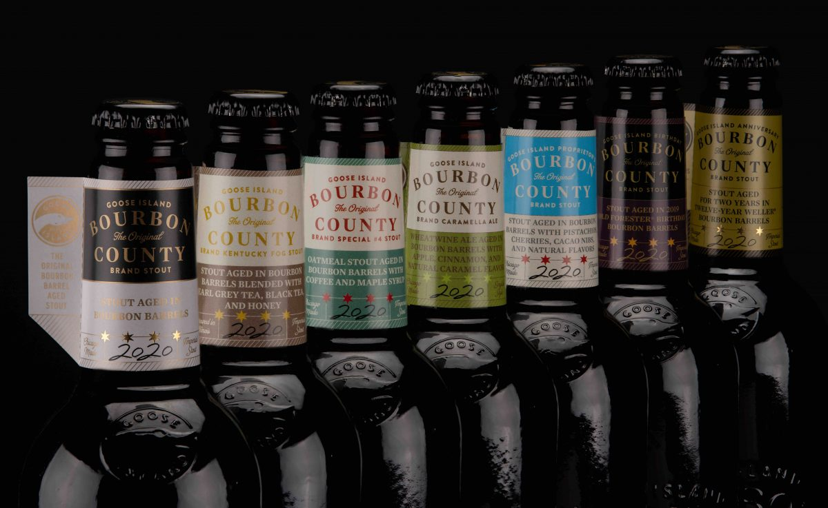 image of Bourbon County Stout 2020 Lineup courtesy of Goose Island Beer Co.