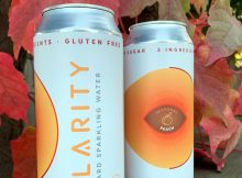 image of Clarity Peach courtesy of Clarity Hard Sparkling Water