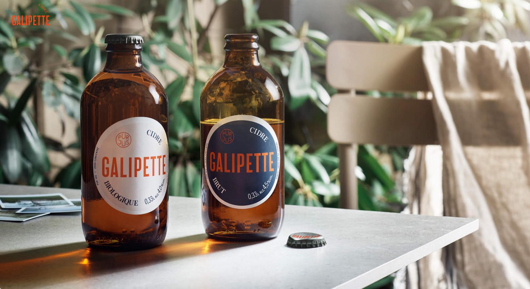 image of Galipette Cidre Brut and Galipette Cidre Biologique courtesy of Galipette Cidre