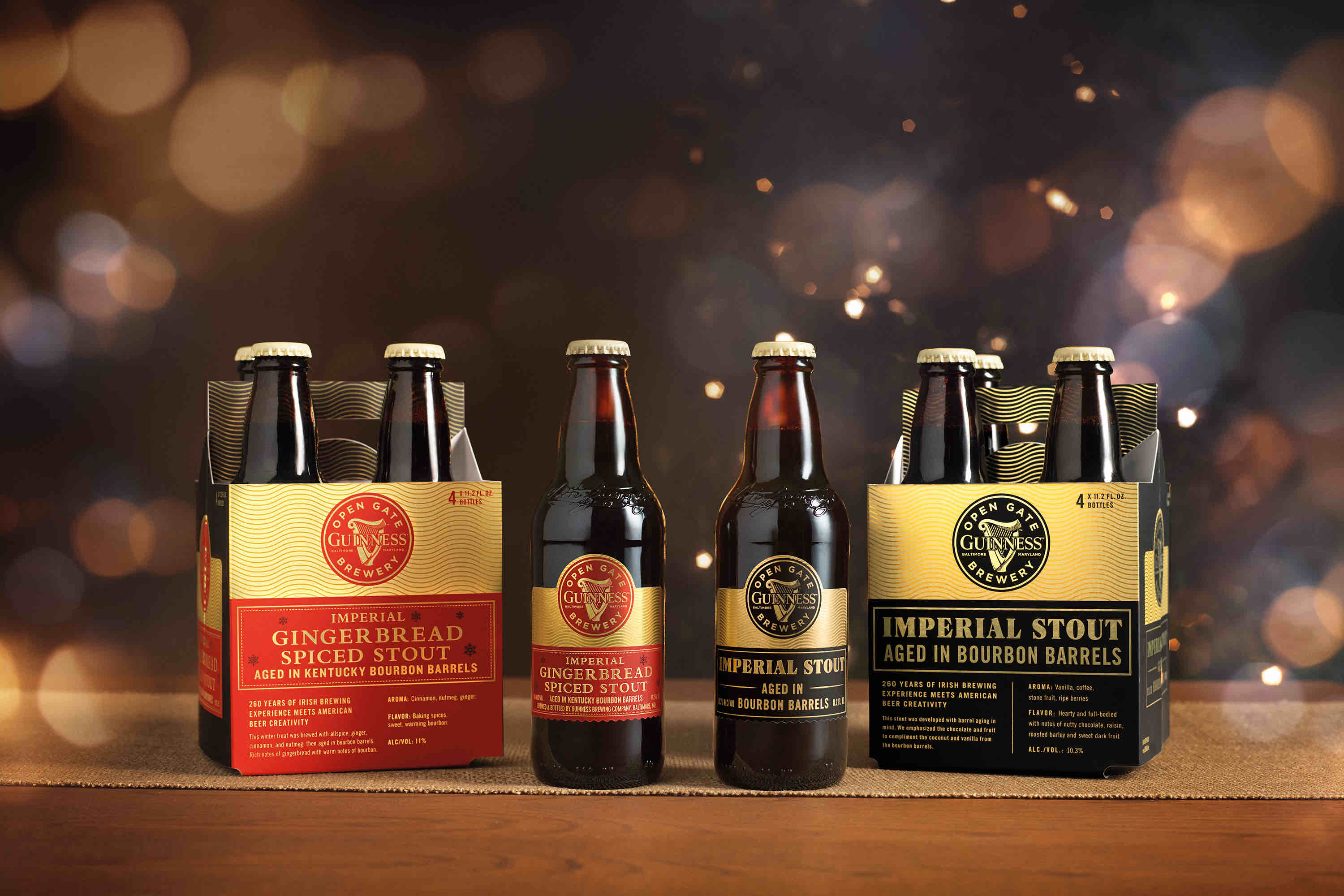 image of Guinness Imperial Gingerbread Spiced Stout and Guinness Imperial Stout courtesy of Guinness