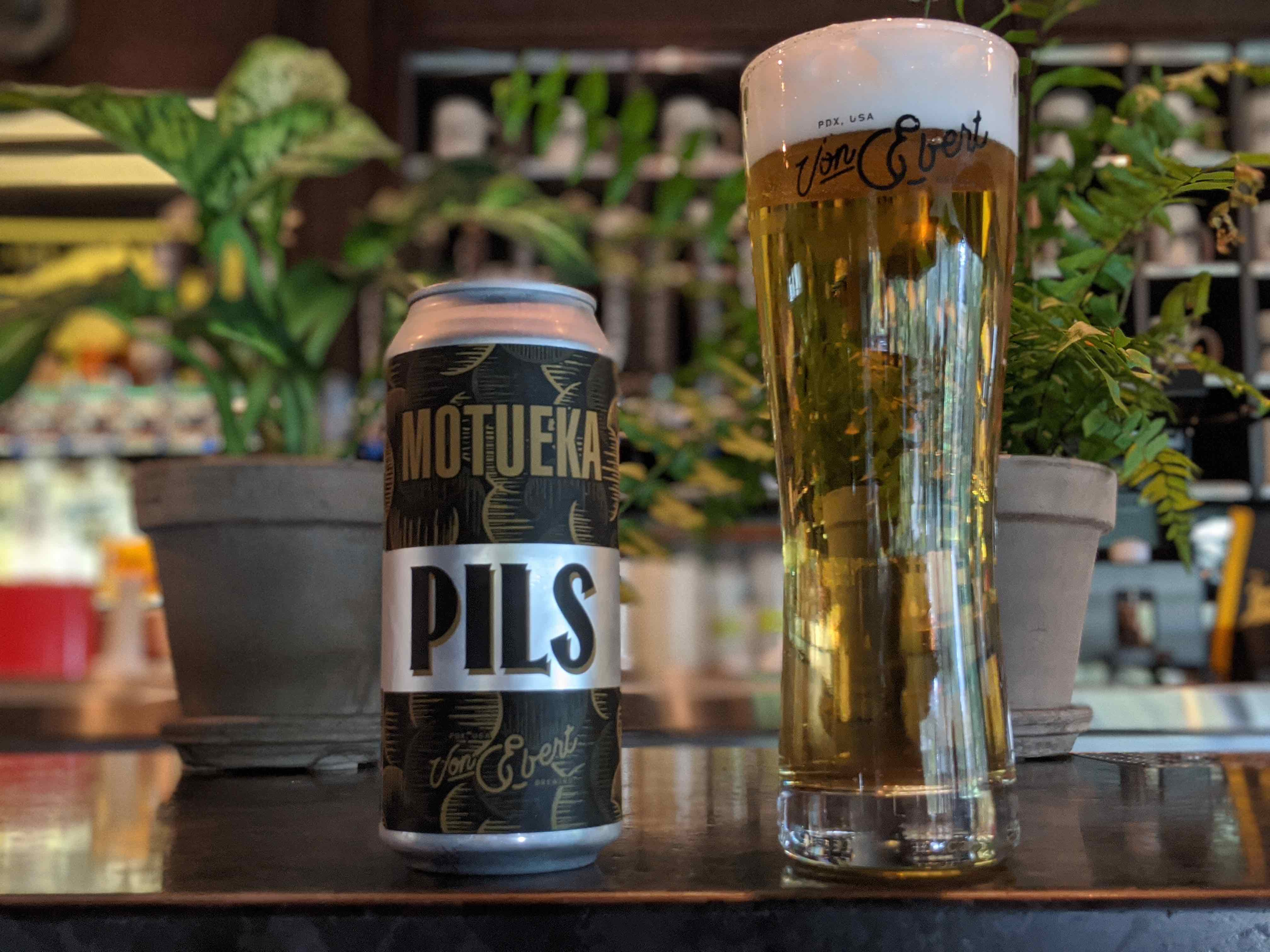 image of Motueka Pils courtesy of Von Ebert Brewing