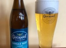 image of Single Hop Lager courtesy of Chuckanut Brewery