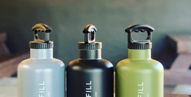 image of Stainless Steel, Double Walled 64oz Growlers courtesy of Chill N Fill