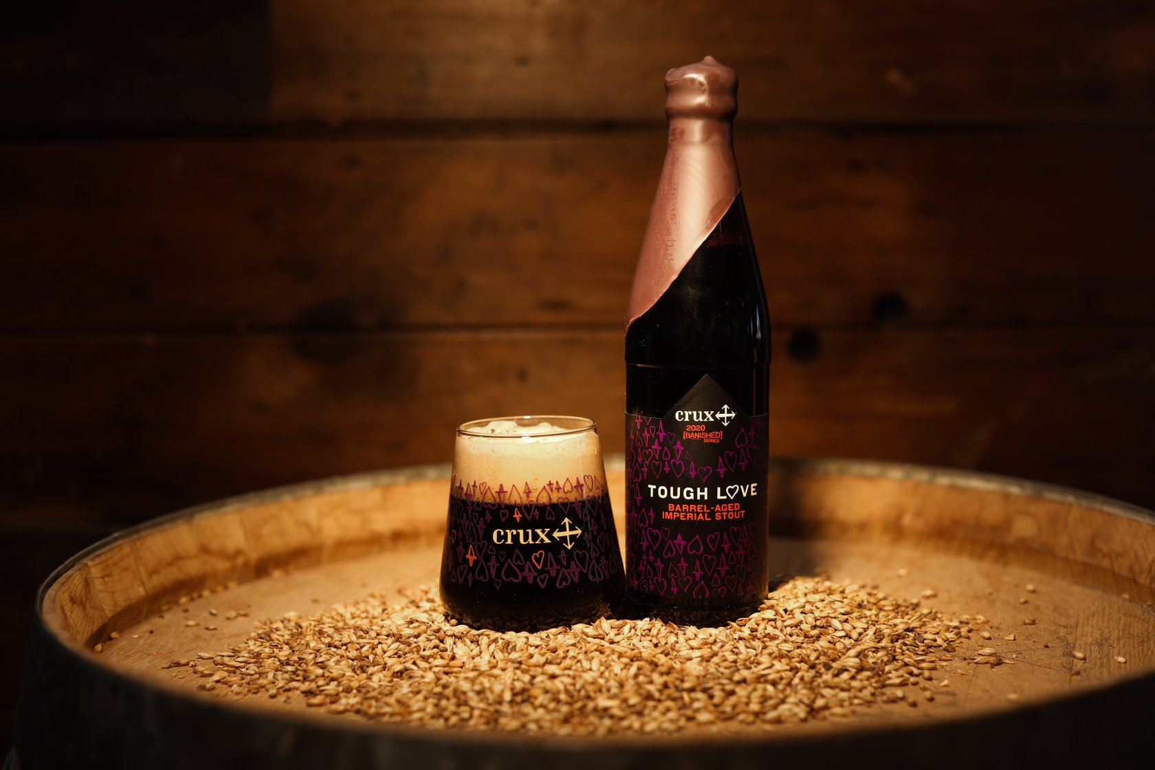 image of Tough Love Barrel-Aged Imperial Stout courtesy of Crux Fermentation Project