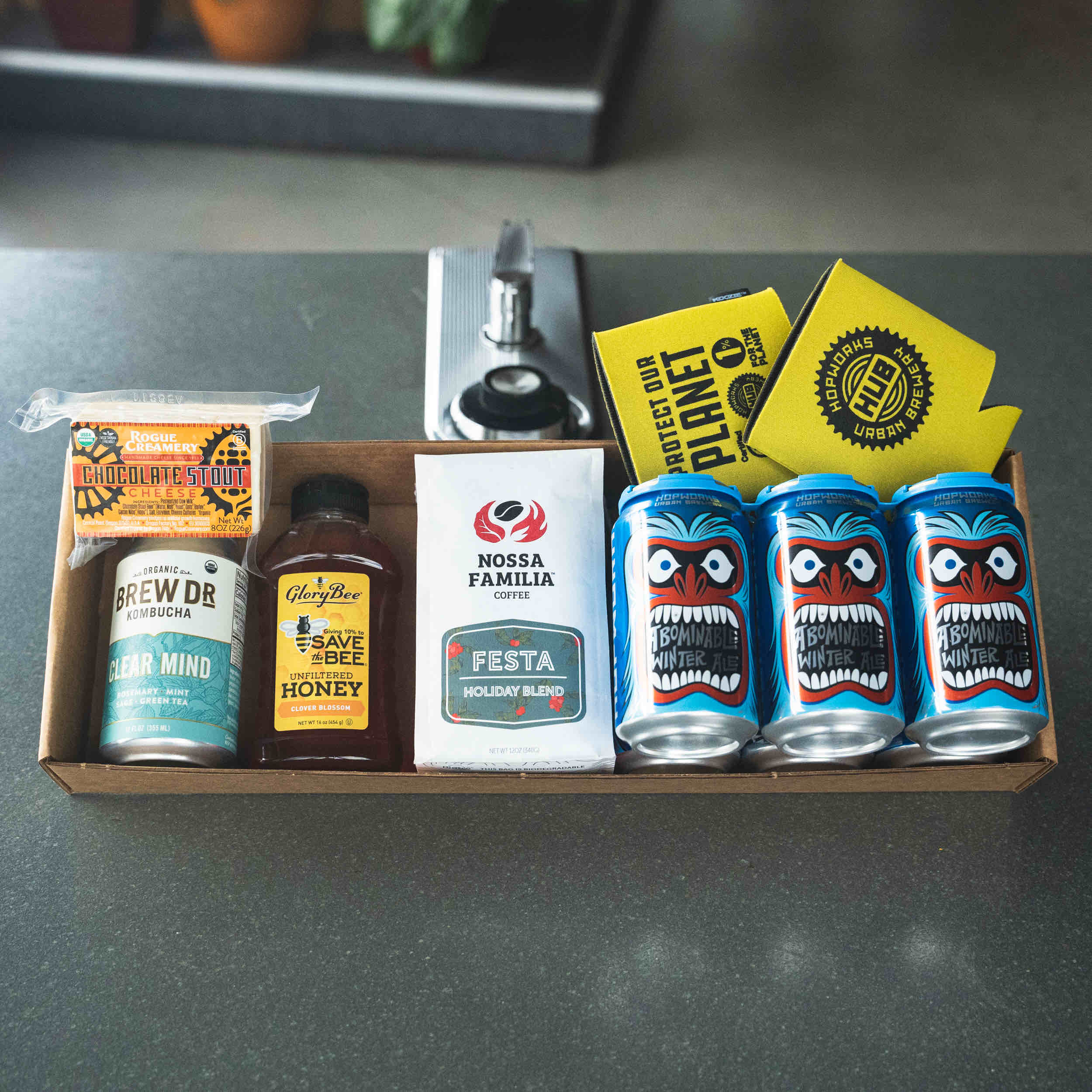 Hopworks opens a festive Holiday B Store featuring local Certified B Corp products. (image courtesy of Hopworks Urban Brewery)