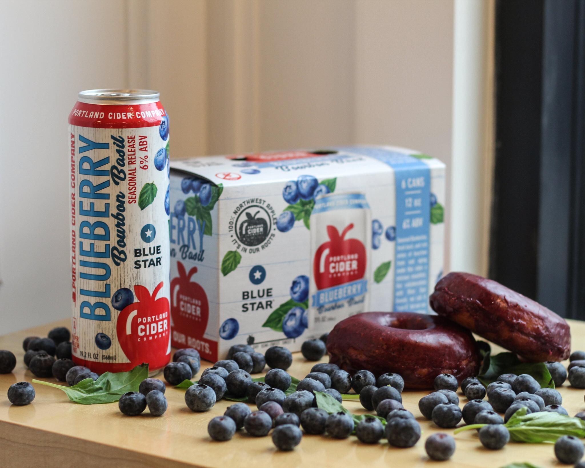 image of Blueberry Bourbon Basil courtesy of Portland Cider Co.