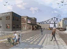 image of Buoy Beer and Pilot House Distilling expansion on the Astoria Riverwalk courtesy of Buoy Beer