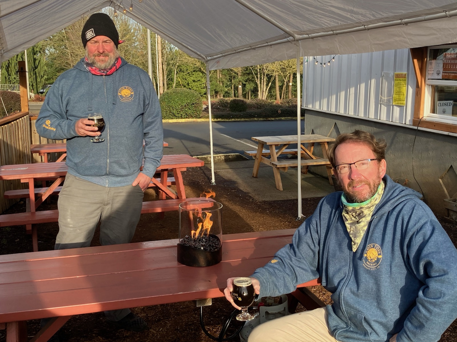 image of Chip Conlon (l) and Tim Hohl (r) courtesy of Coin Toss Brewing