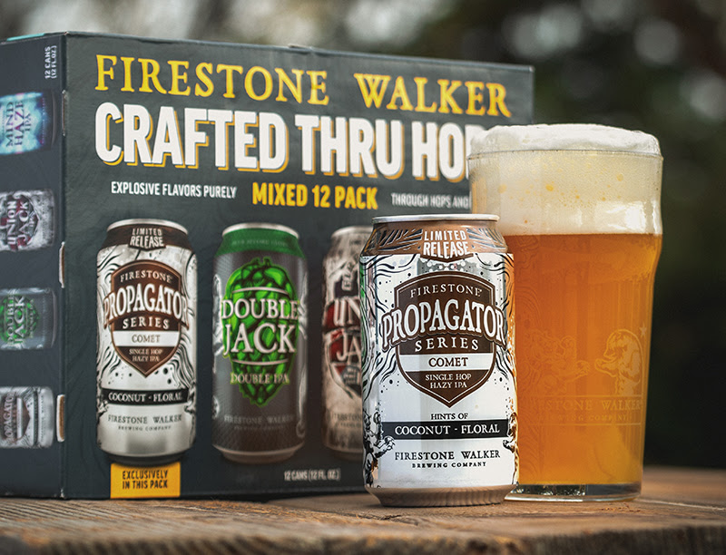 image of Propagator Series - Comet and its Crafted Thru Hops Mixed Pack courtesy of Firestone Walker Brewing