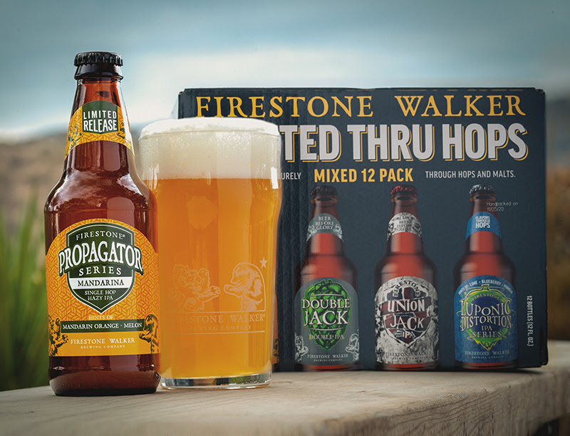 image of Propagator Series - Mandarina and its Crafted Thru Hops Mixed Pack courtesy of Firestone Walker Brewing