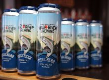 image of Steelhead Extra Pale Ale in 19.2 oz cans courtesy of Mad River Brewing