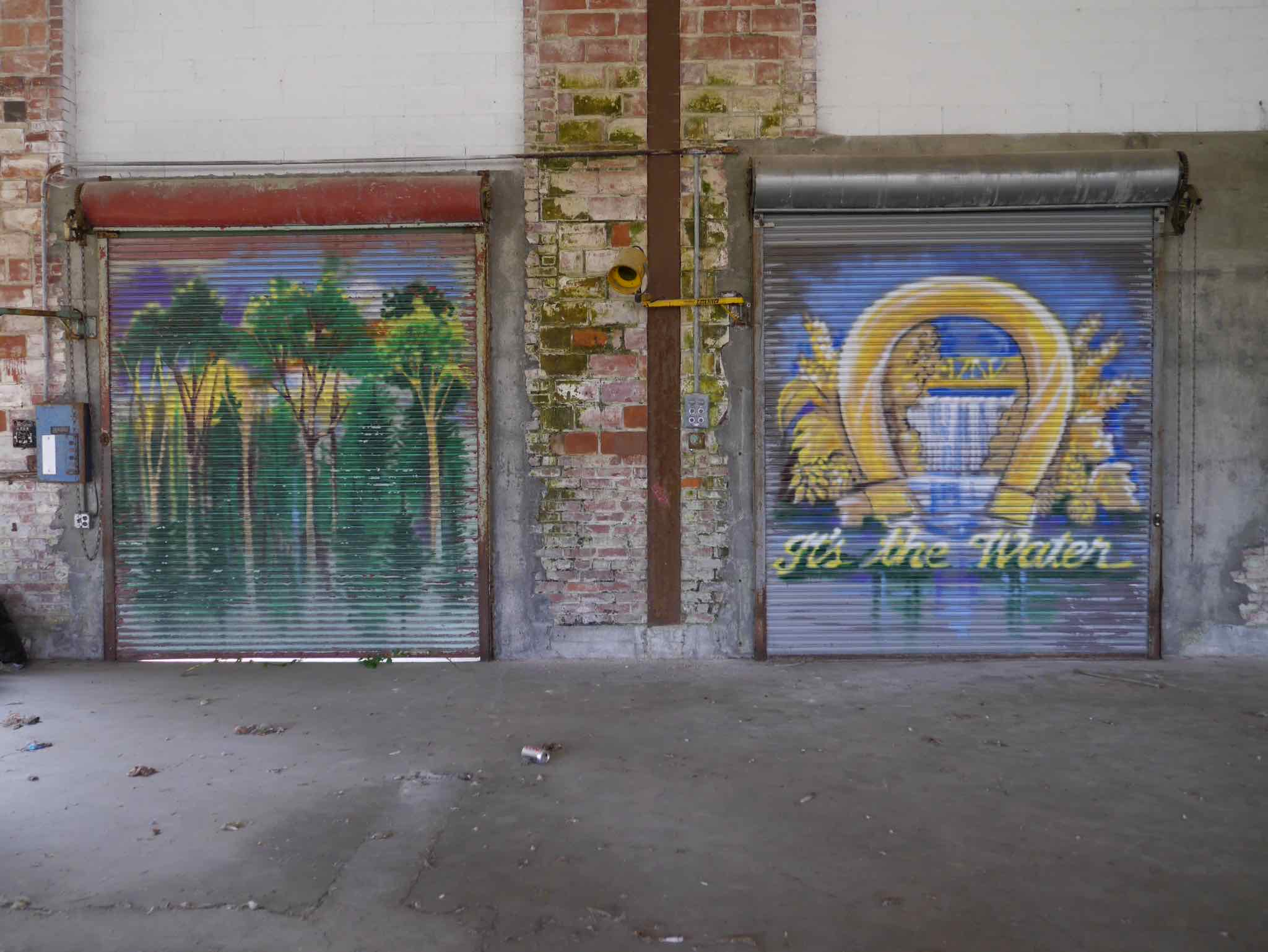 Artwork inside the orgiinal Olympia brewery in Tumwater, Washington. (photo by Cat Stelzer)