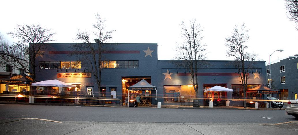 Expanded outdoor seating at Double Mountain Brewery includes additional fire pits. (image courtesy of Double Mountain Brewery)