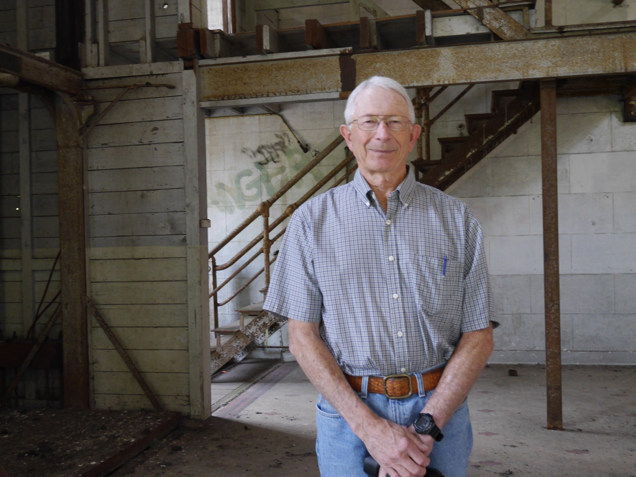 Longtime Olympia brewer Paul Knight inside the original Olympia brewery in Tumwater, Washington. (photo by Cat Stelzer)
