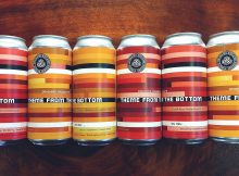 Oakshire Brewing Recalls Theme From The Bottom – Mango Raspberry Cheesecake Smoothie Sour Ale. (image courtesy of Oakshire Brewing)