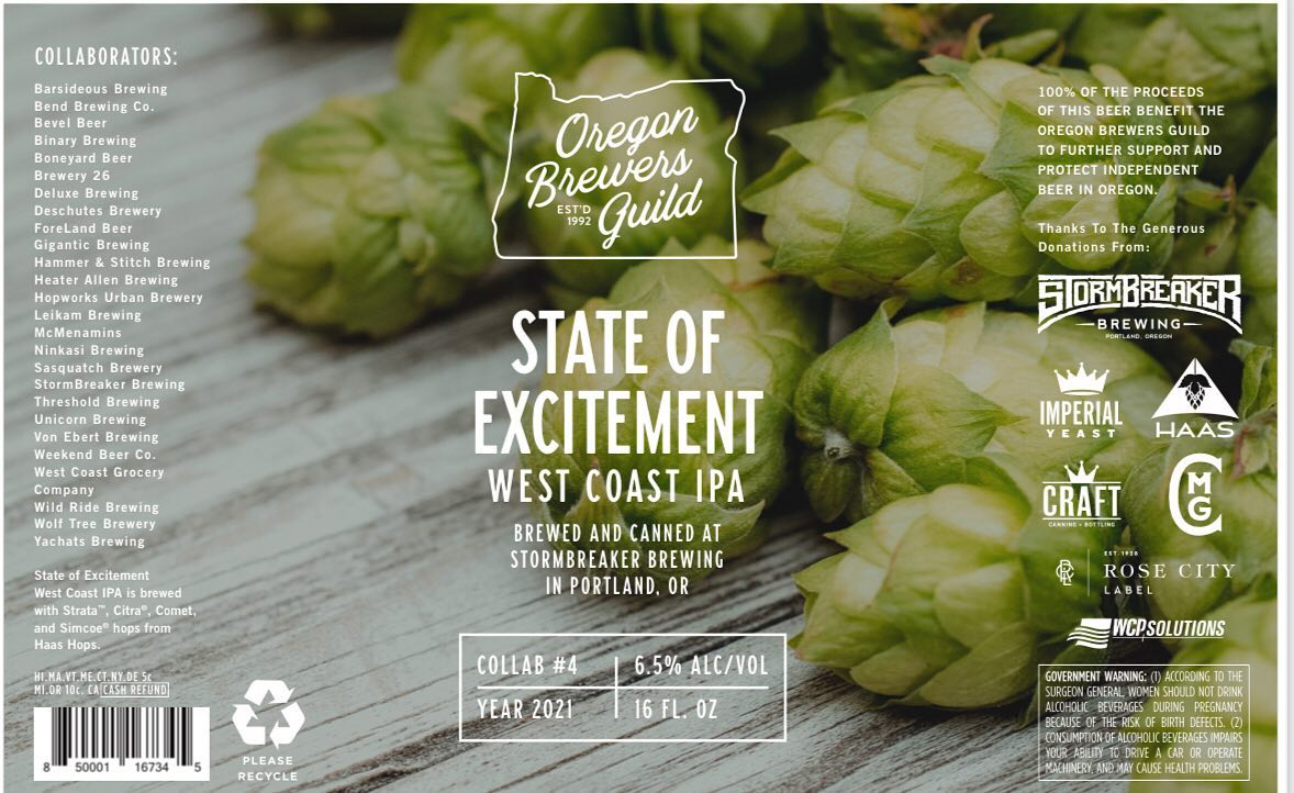 Oregon Brewers Guild State of Excitement West Coast IPA - Brewed at StormBreaker Brewing