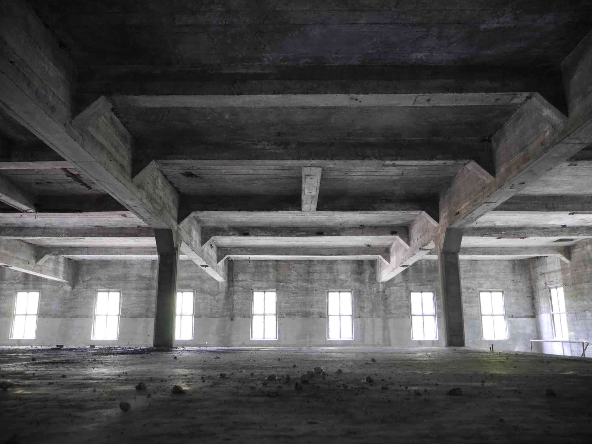 Warehouse space in the original Olympia brewery in Tumwater, Washington. (photo by Cat Stelzer)