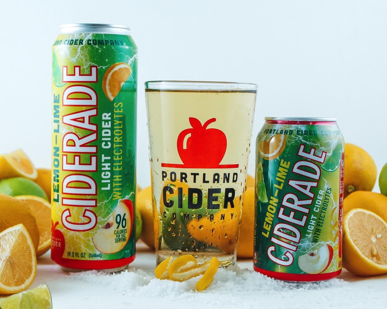 image of Lemon-Lime Ciderade courtesy of Portland Cider Co.