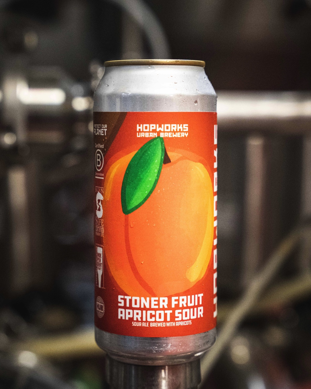 image of Stoner Fruit Apricot Sour courtesy of Hopworks Urban Brewery