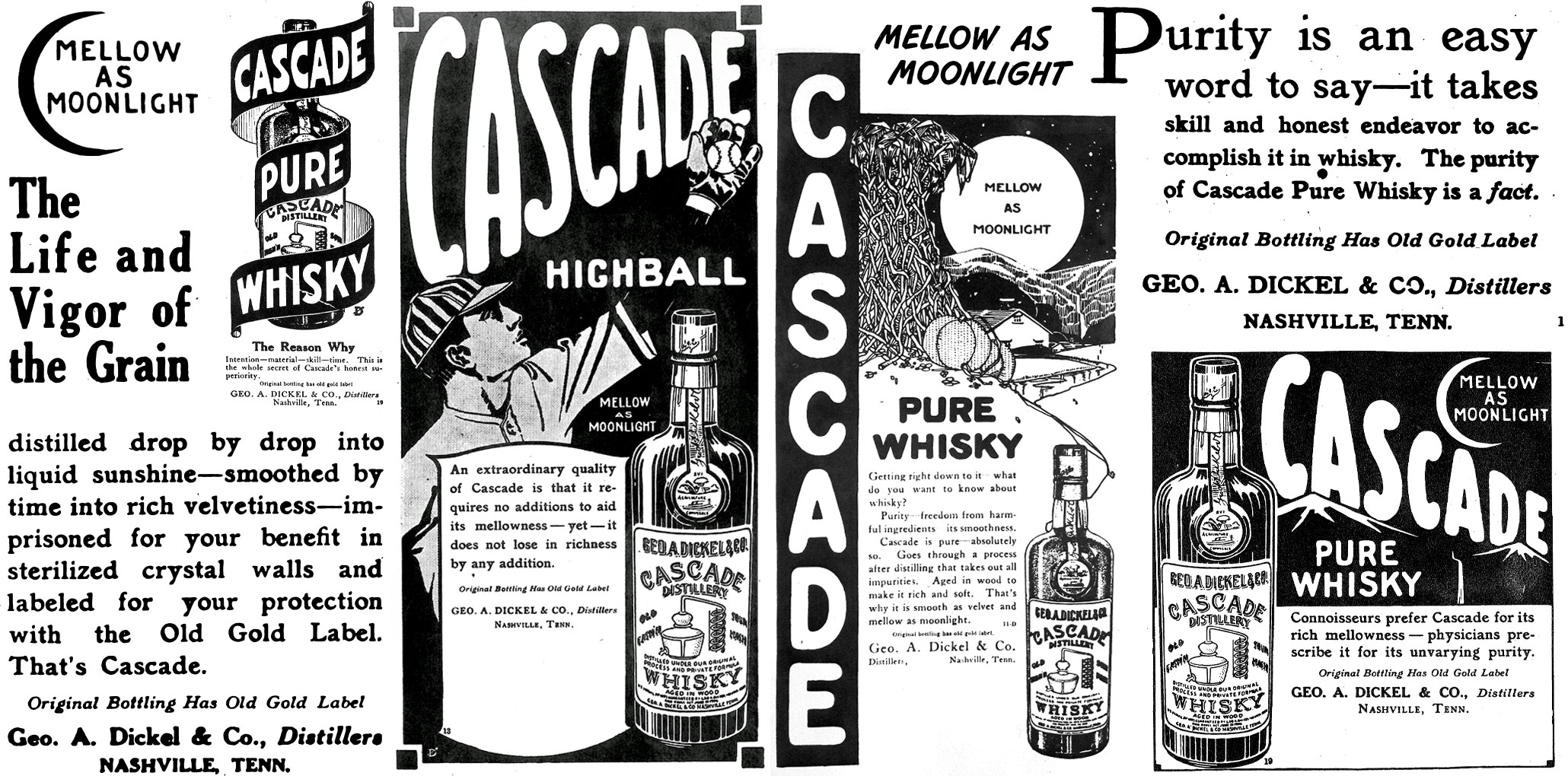 image of vintage Cascade Distillery advertising courtesy of United Creatives