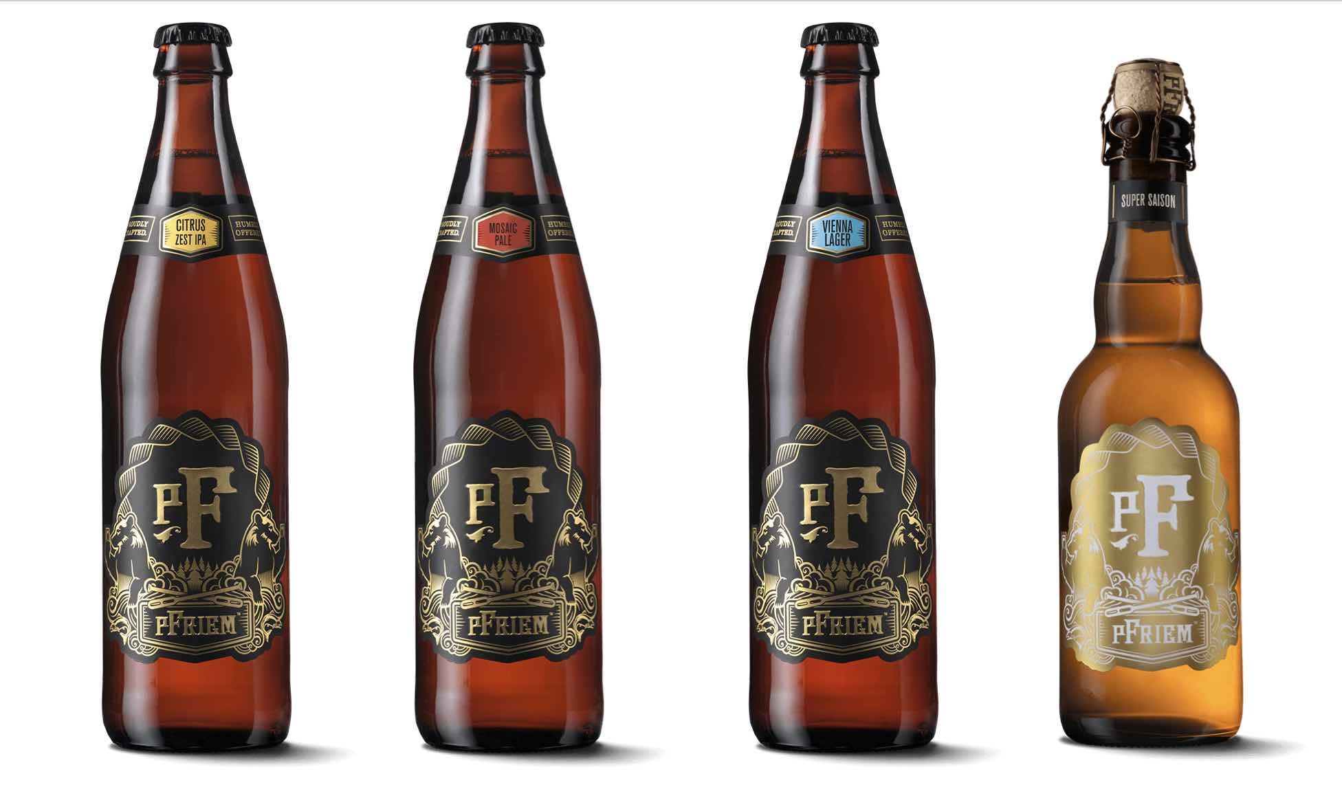 pFriem Family Brewers Winter Releases - Citrus Zest IPA, Mosaic Pale Ale, Vienna Lager and Super Saison