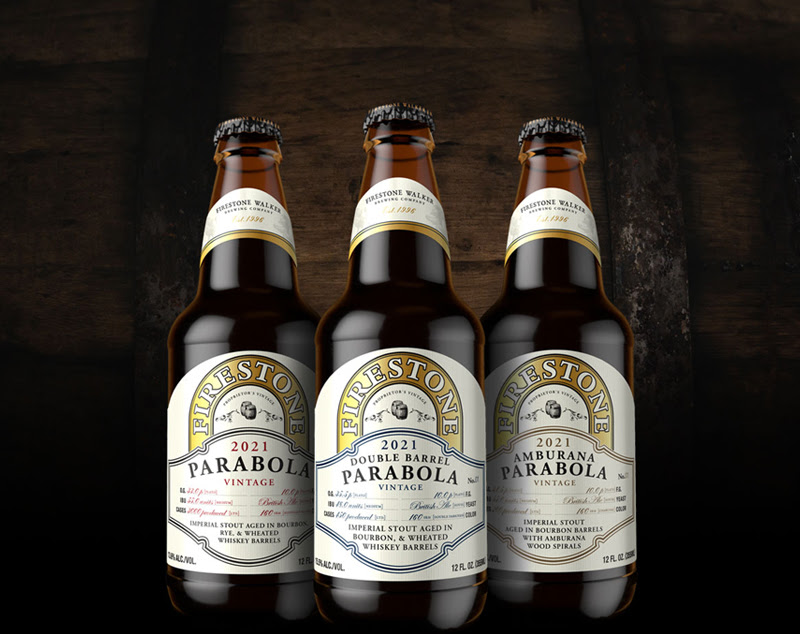 For its 2021 release of Parabola, Firestone Walker Brewing has also released Double Barrel Parabola and Amburana Parabola. (image courtesy of Firestone Walker Brewing)