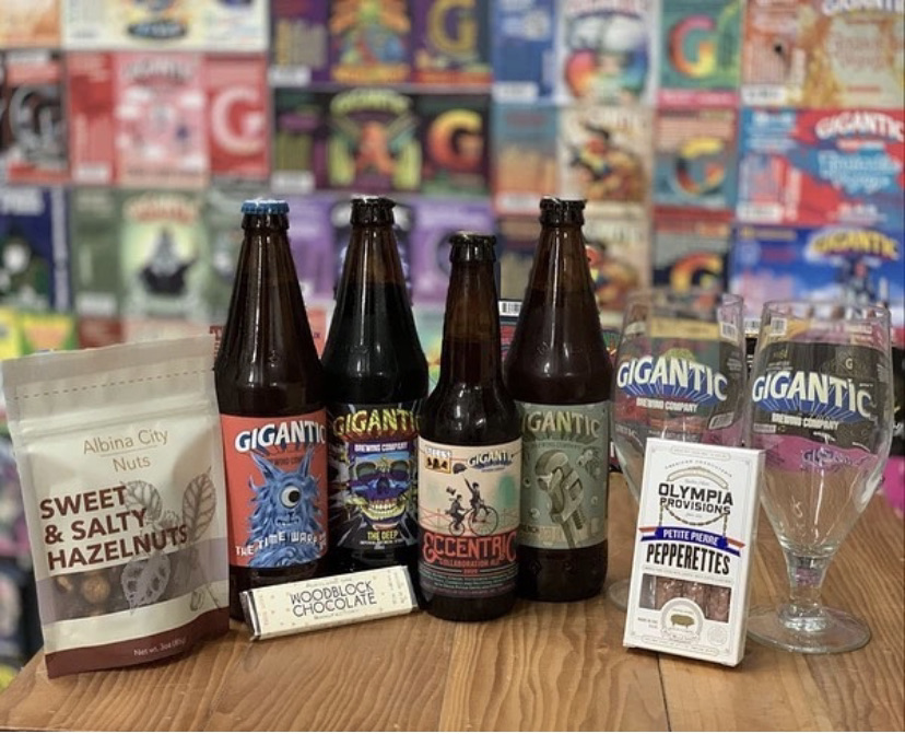 In time for Valentine's Day, Gigantic Valentine's Day Food & Beer Pairing Pack. (image courtesy of Gigantic Brewing)