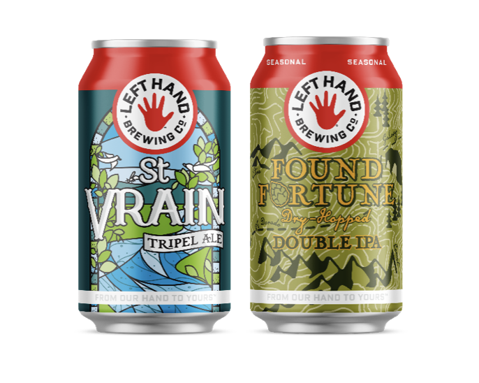 Left Hand Brewing Co. St. Vrain Tripel Ale and Found Fortune Dry-Hopped Double IPA