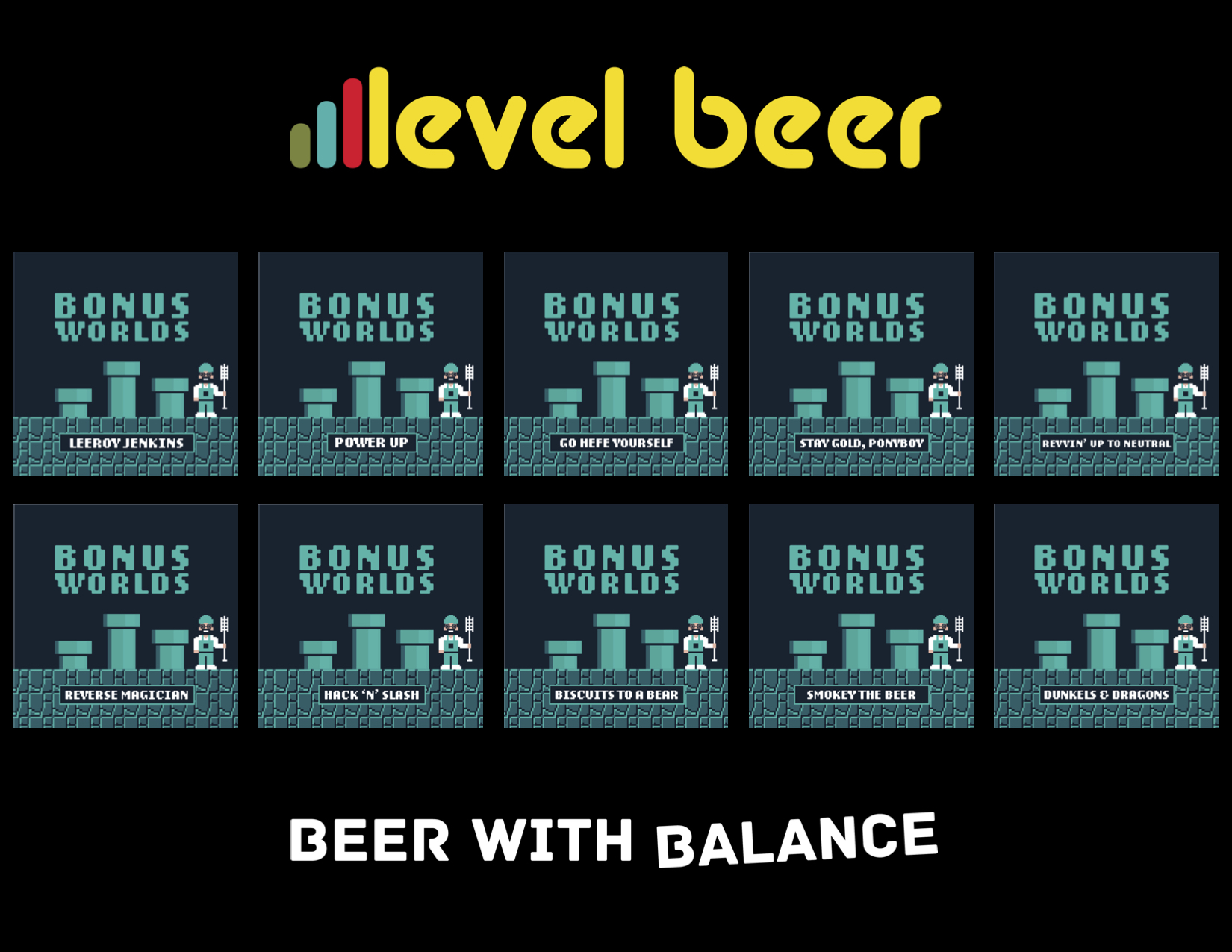 Level Beer Bonus Worlds