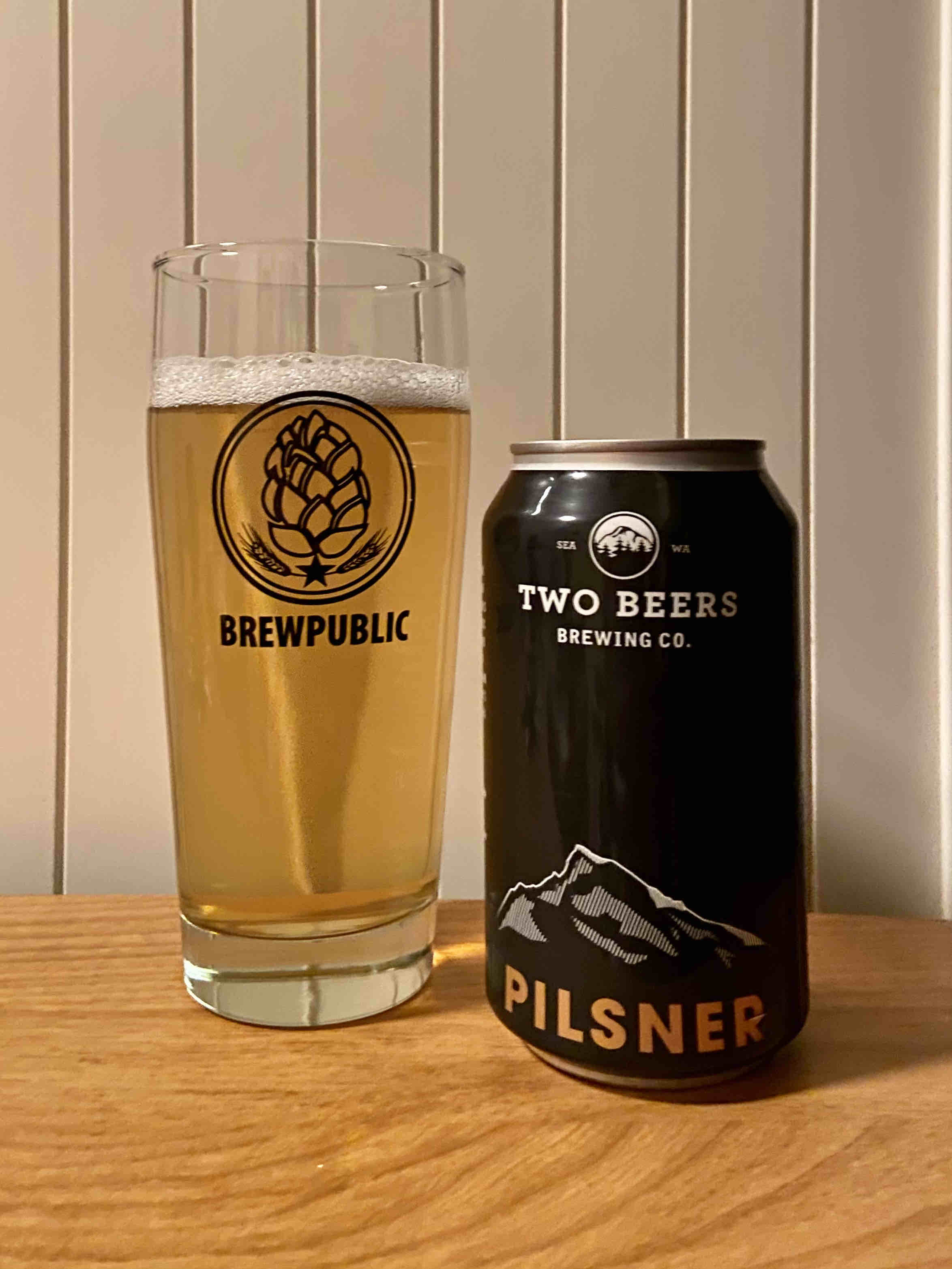Two Beers Pilsner receives a refreshed packaging and new, concise name.