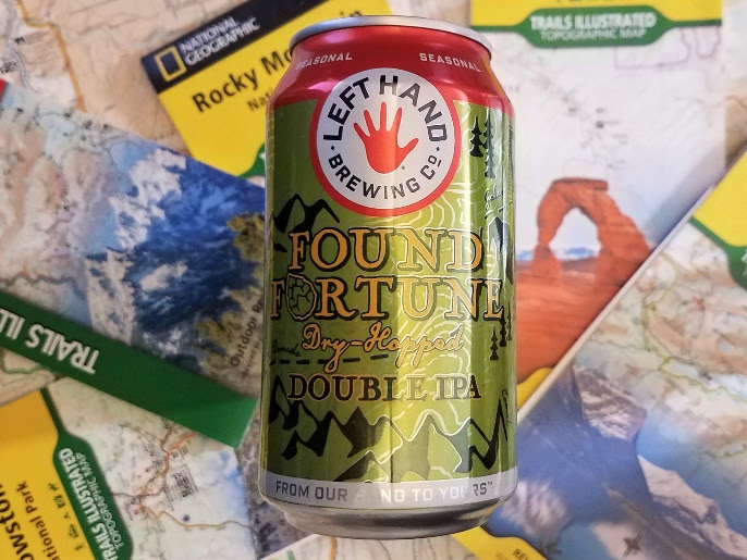 image of Found Fortune Dry-Hopped Double IPA courtesy of Left Hand Brewing Co.