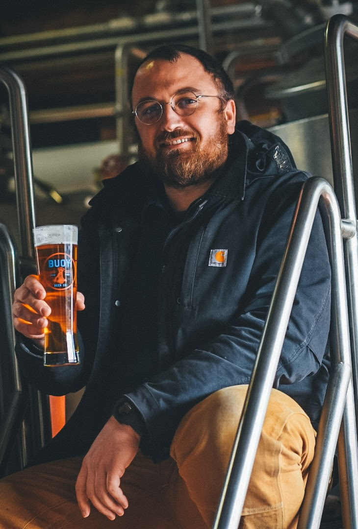 image of Head Brewer Paul Anderson courtesy of Buoy Beer