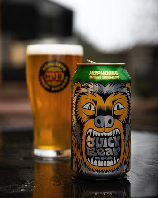 image of Juicy Bear IPA courtesy of Hopworks Urban Brewery