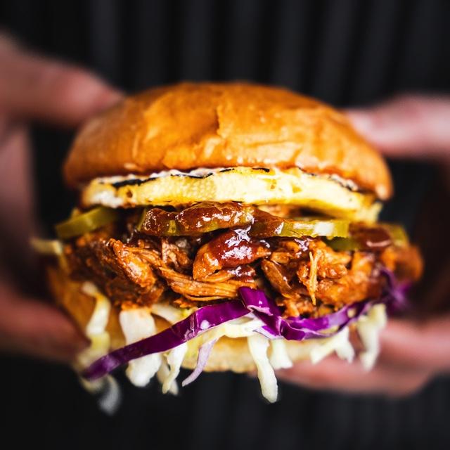 image of Juicy Pulled Pork courtesy of Hopworks Urban Brewery