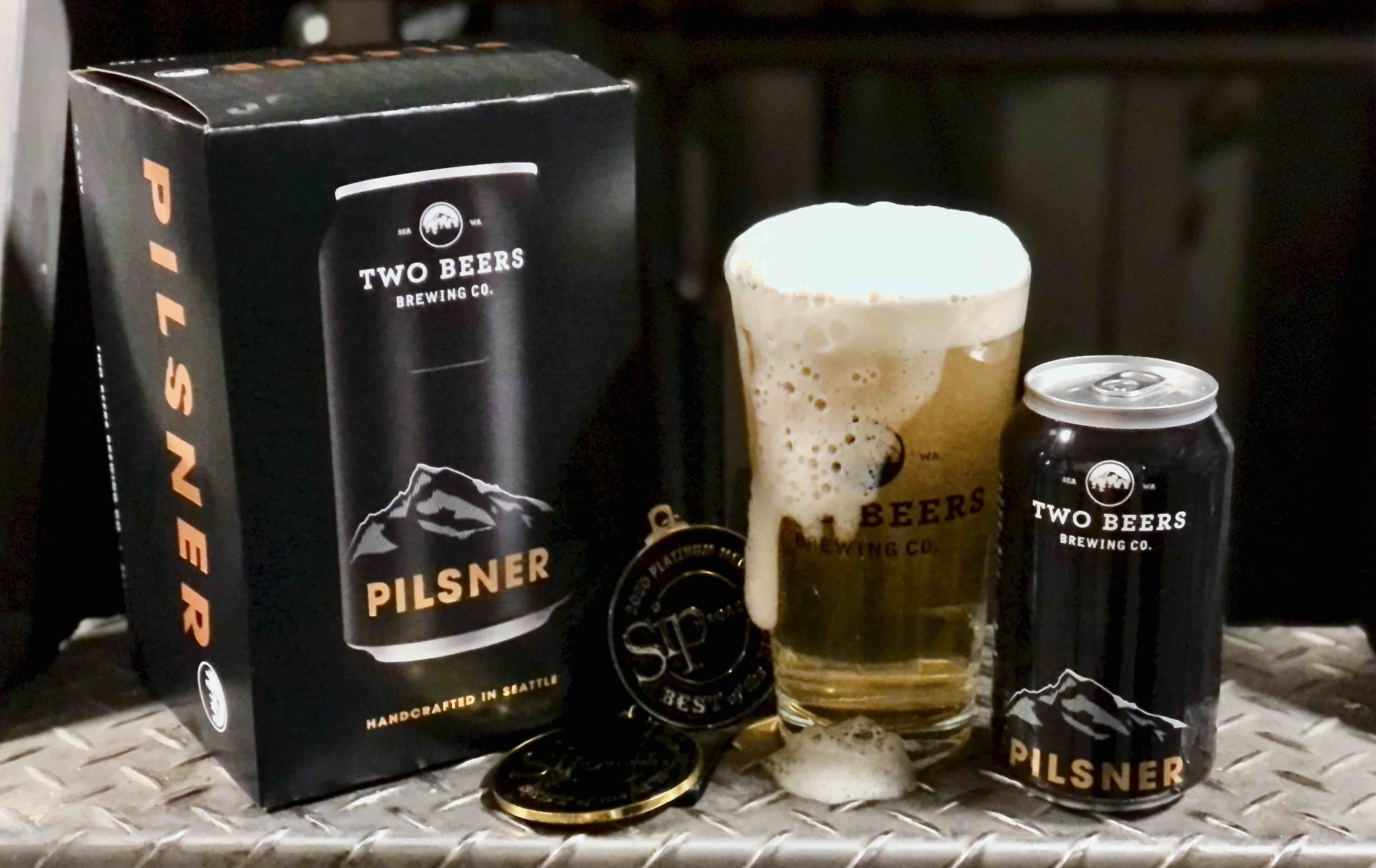 image of Pilsner courtesy of Two Beers Brewing