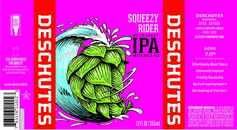 Deschutes Brewery Squeezy Rider IPA Label