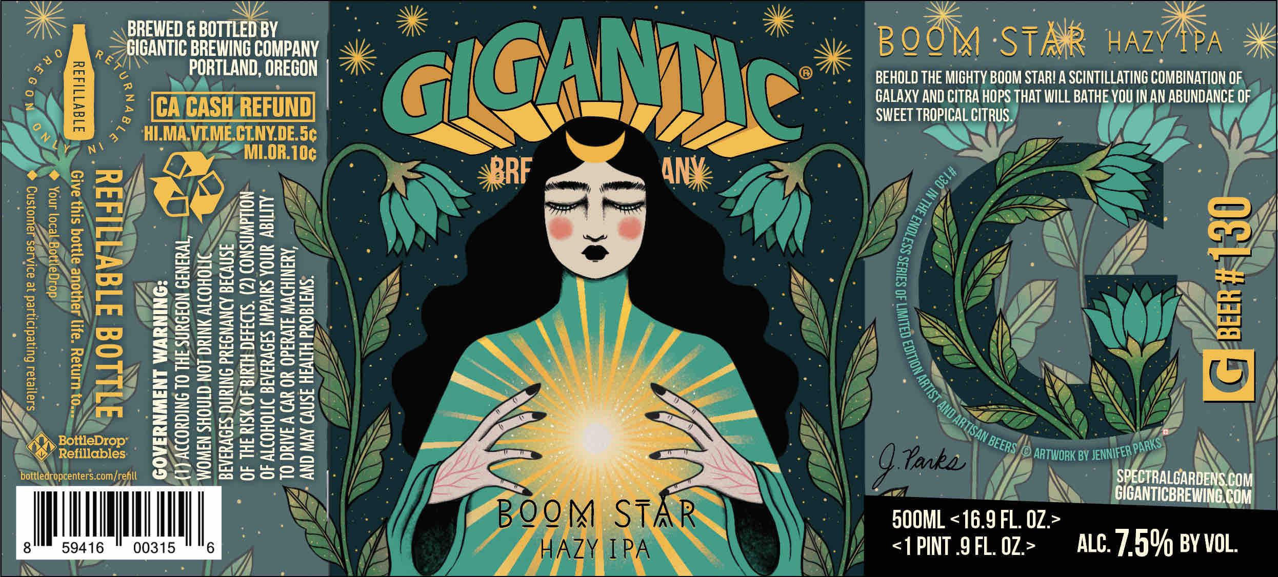 Gigantic Brewing Boom Star Hazy IPA