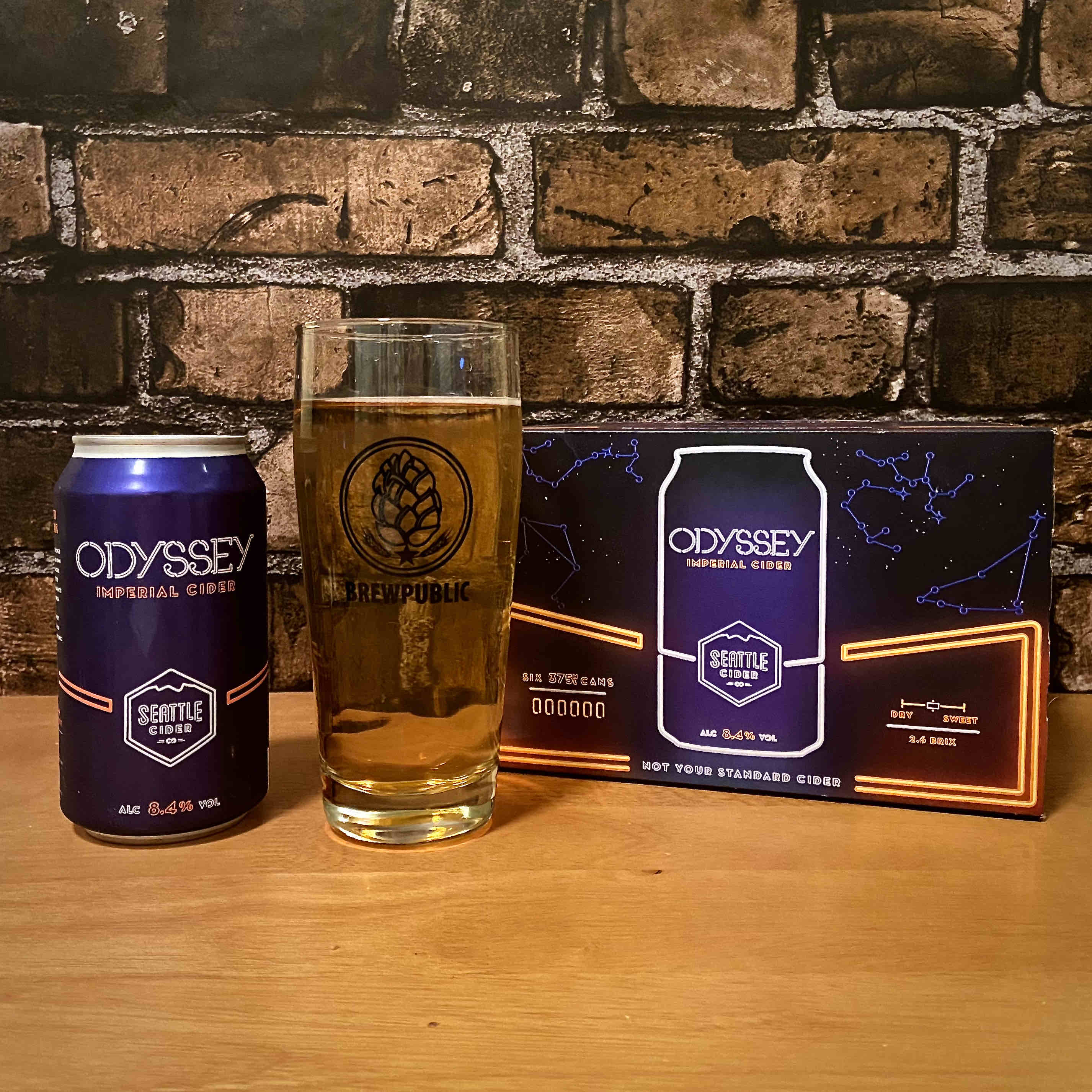 Odyssey Imperial Cider is now available in 375mL cans, a slightly larger packaging format than the standard 12oz can.