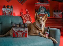 Penny Gwynn as our Dawn of the Red dog! (image courtesy of Ninkasi Brewing)