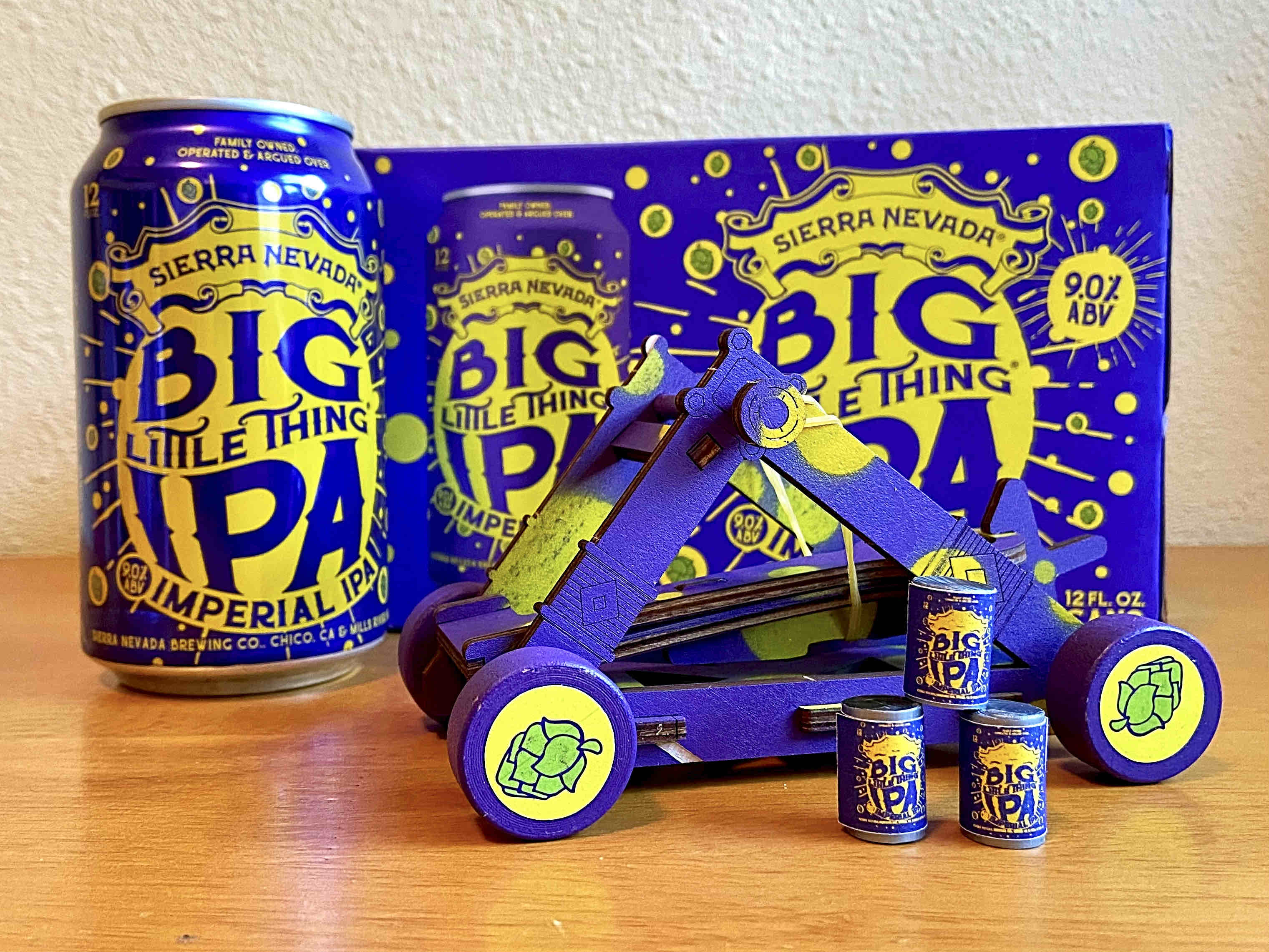 Sierra Nevada Brewing To catapult a keg of Big Little Thing Imperial IPA. (Note, this is not the actual catapult that will be used on March 9, 2021)