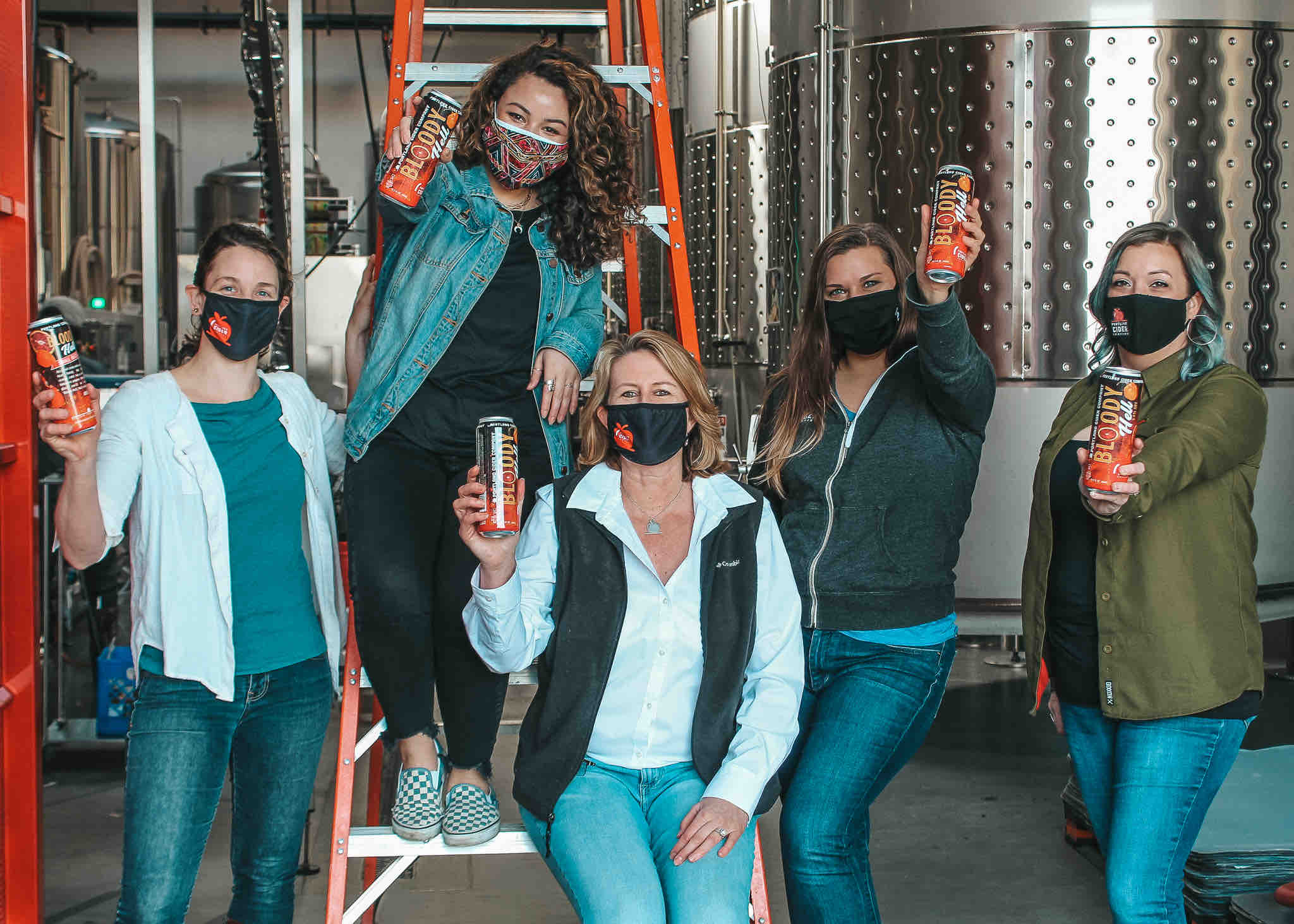 The ladies of Portland Cider Company ready to celebrate Womens History Month during the month of March. (image courtesy of Portland Cider Co.)