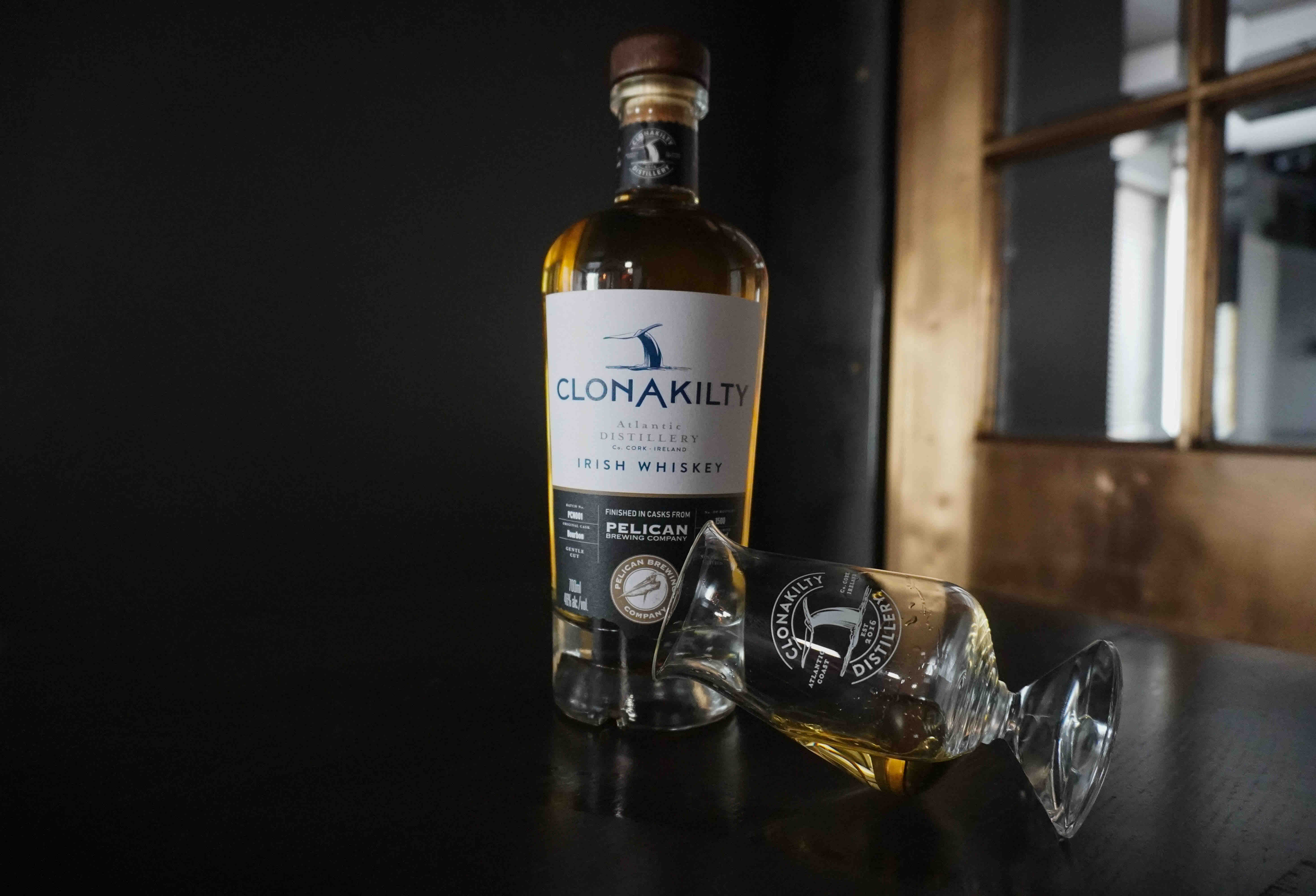 image of Clonakilty Mother of All Storms Cask Finish Irish Whiskey a collaboration with Pelican Brewing courtesy of Clonakilty Distillery