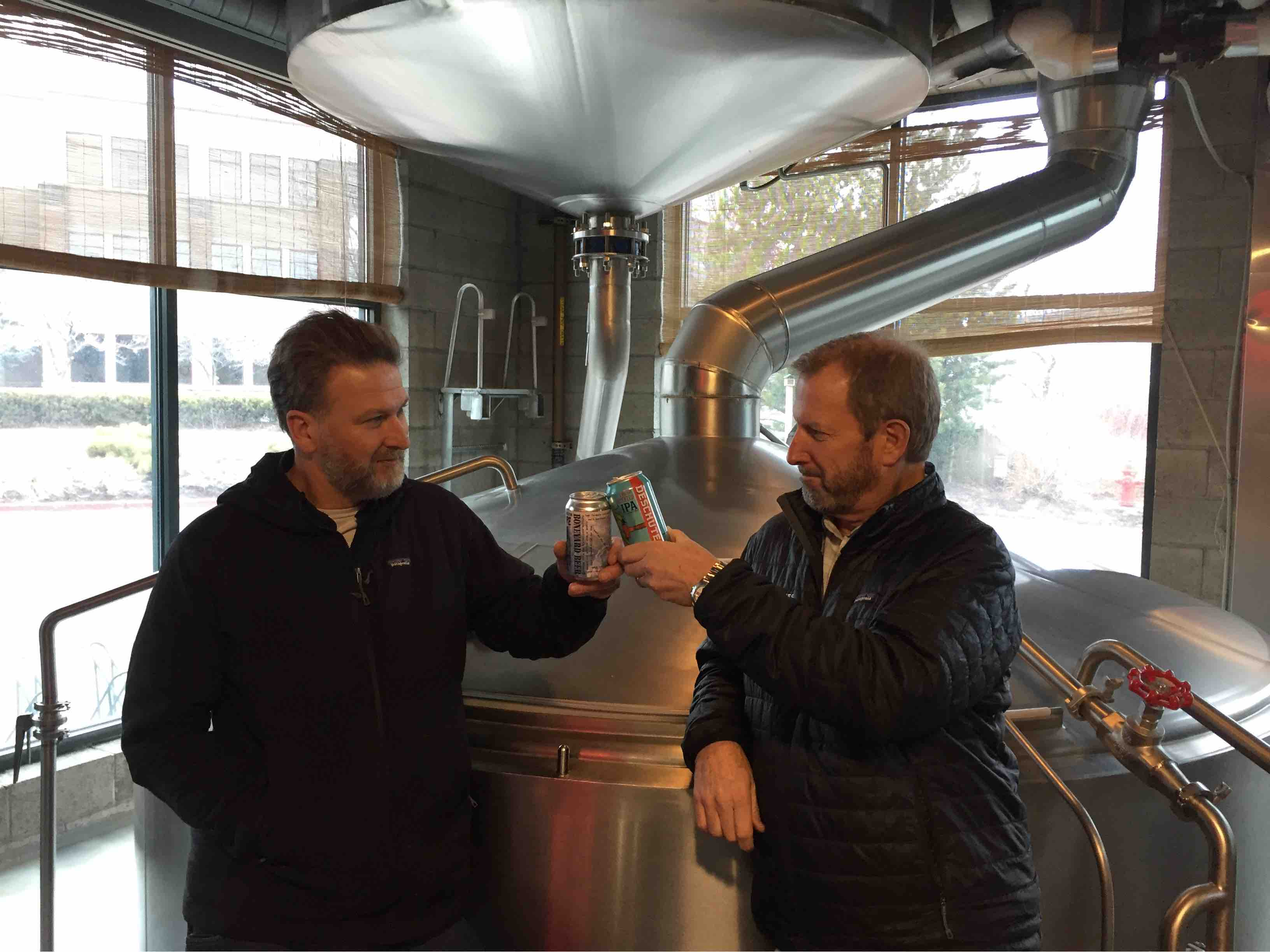 image of Tony Lawrence and Gary Fish courtesy of Deschutes Brewery