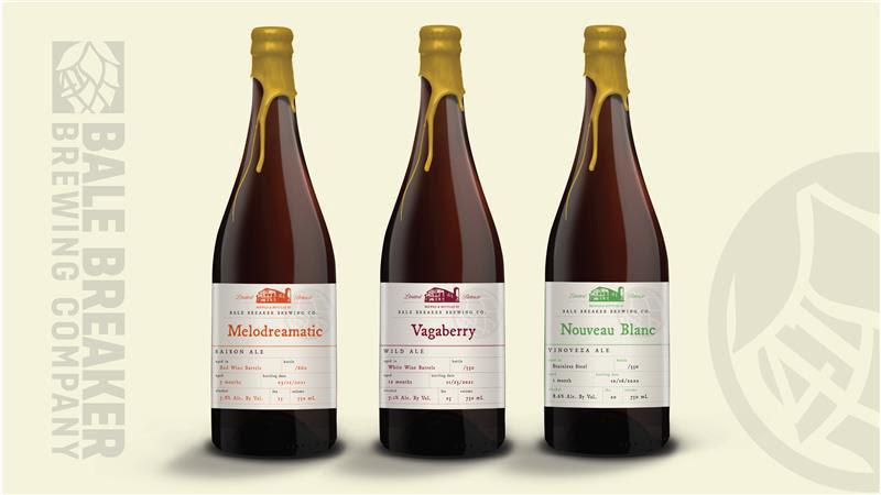 Bale Breaker Introduces New Barrel-Aged Bottles – Melodreamatic Saison, Vagaberry Wild Ale, and Nouveau Blanc Vinoveza