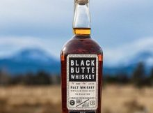 Black Butte Whiskey 2020, a 5 year aged Oregon Whiskey. (image courtesy of Crater Lake Spirits)
